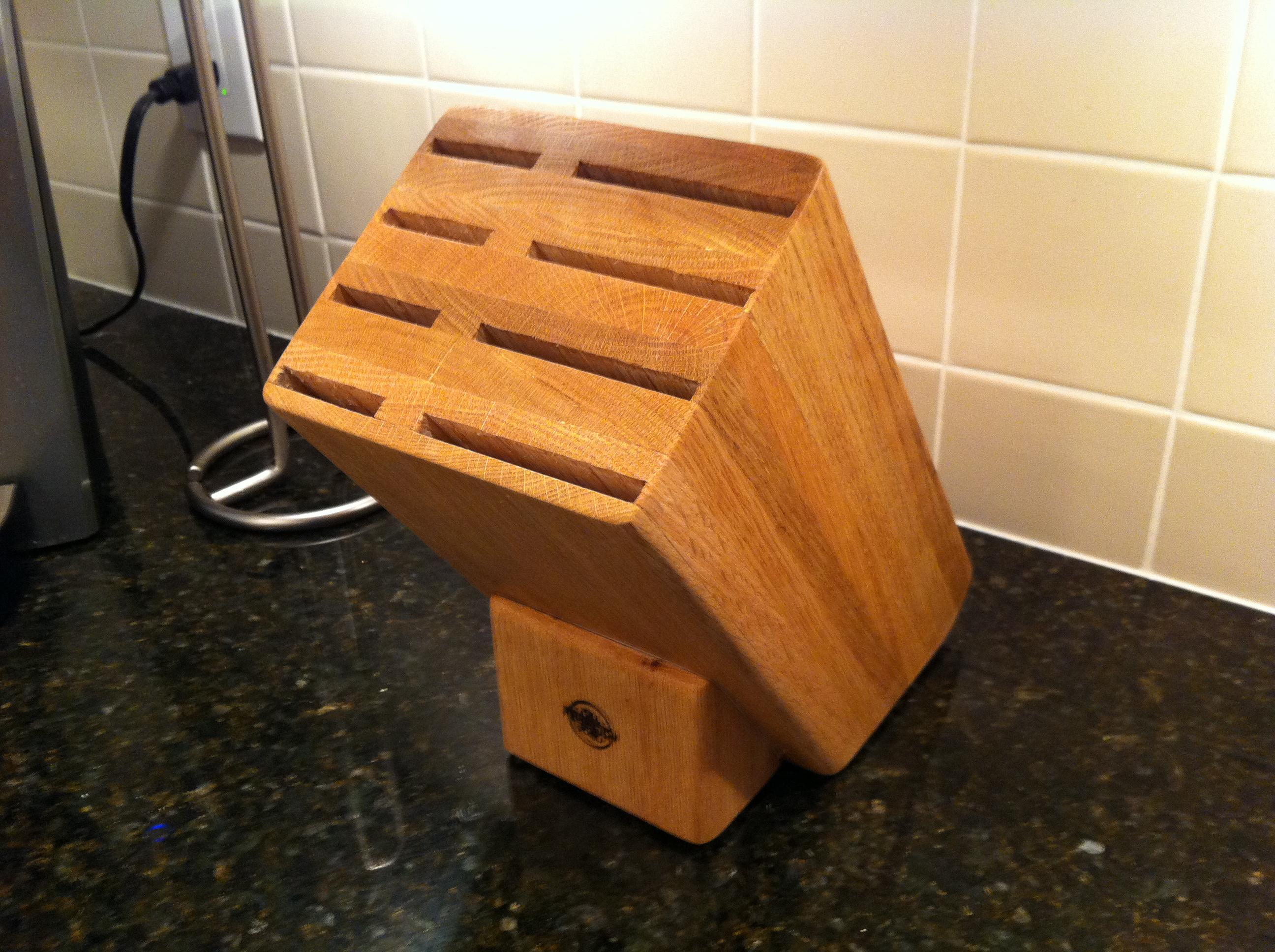 Custom Knife Block | Pennington Millworks