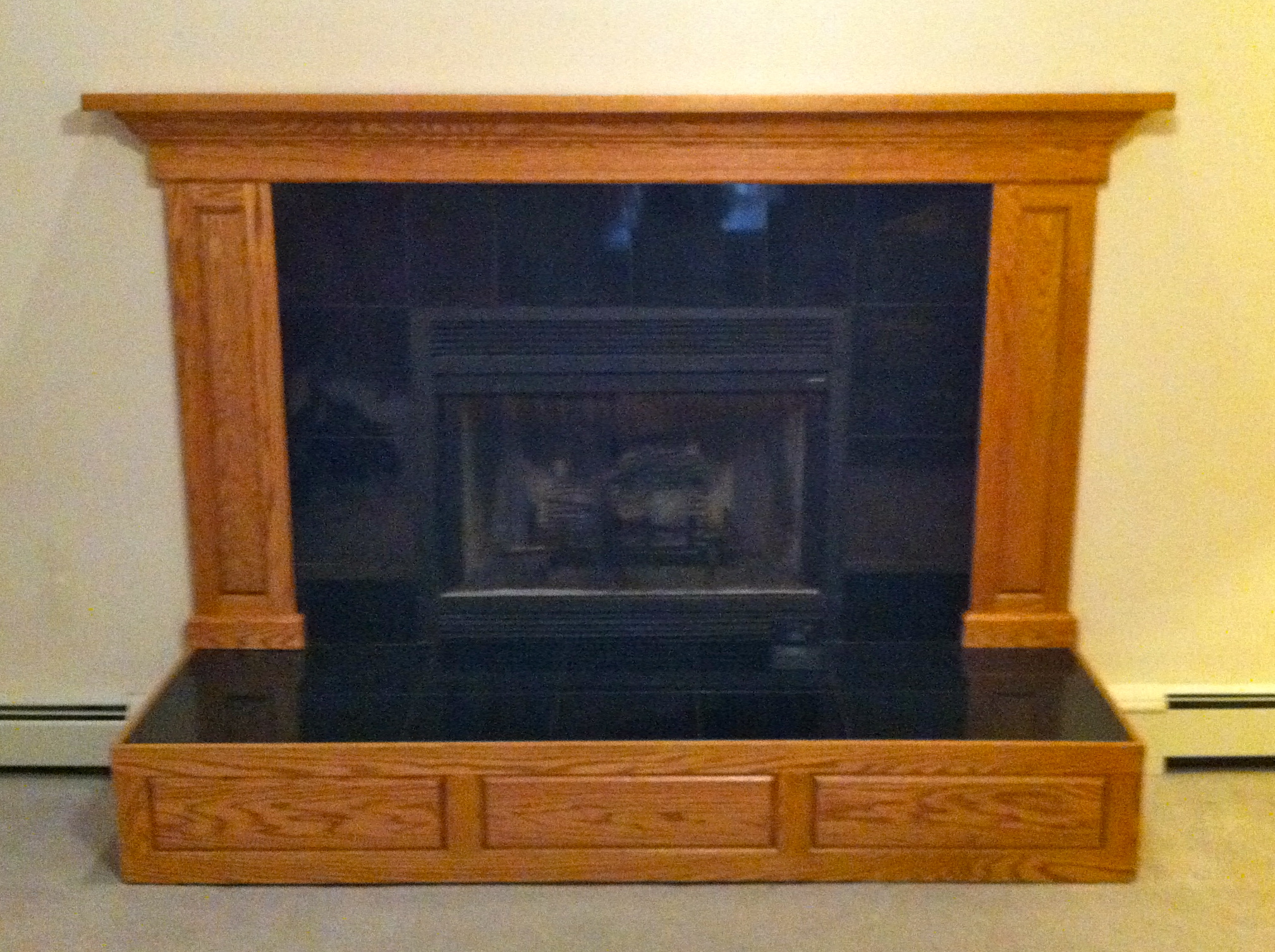 Fireplace Raised Hearth Viewing Gallery