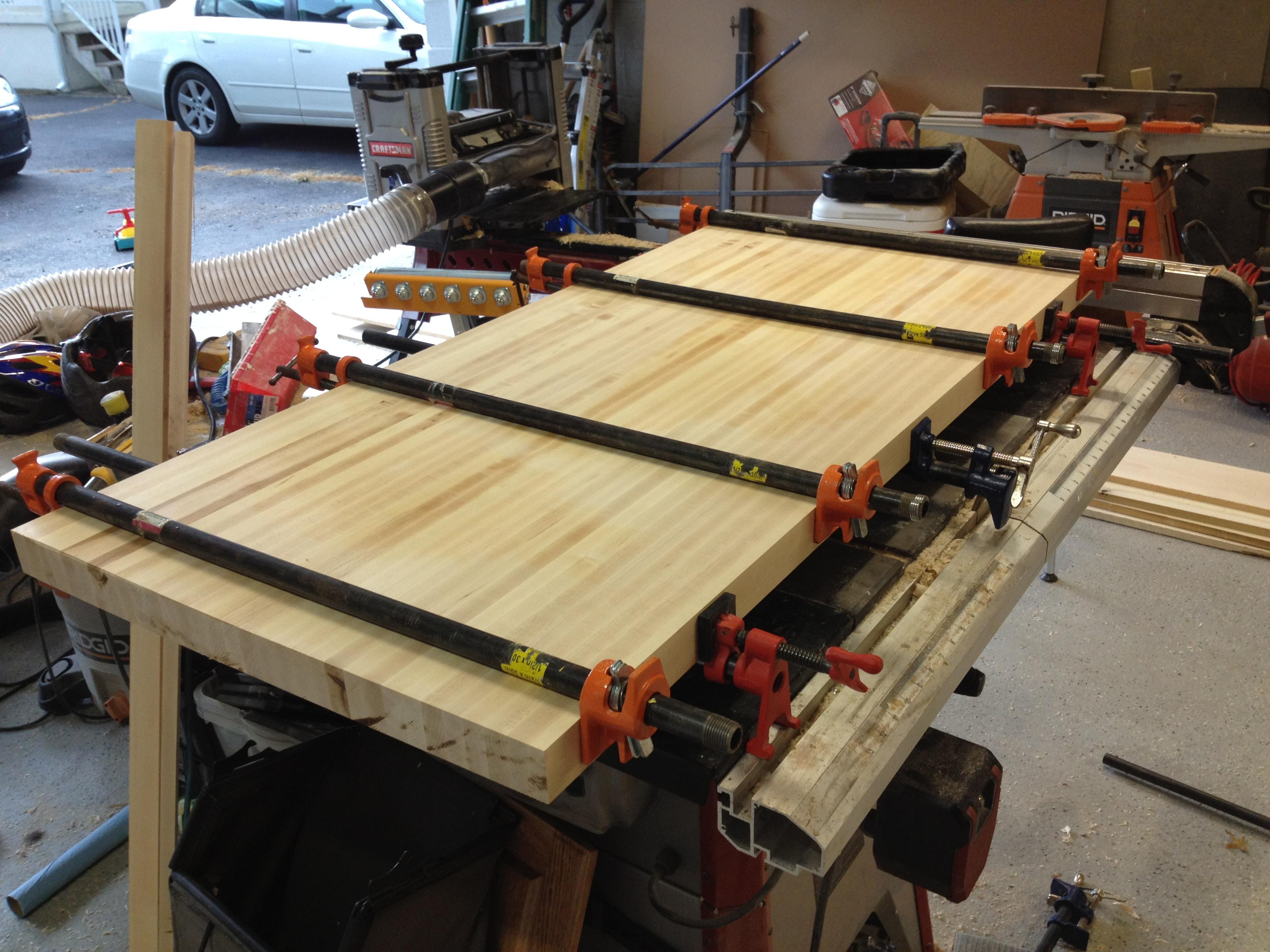 8 steps to building a butcher block countertop pennington millworks. Black Bedroom Furniture Sets. Home Design Ideas