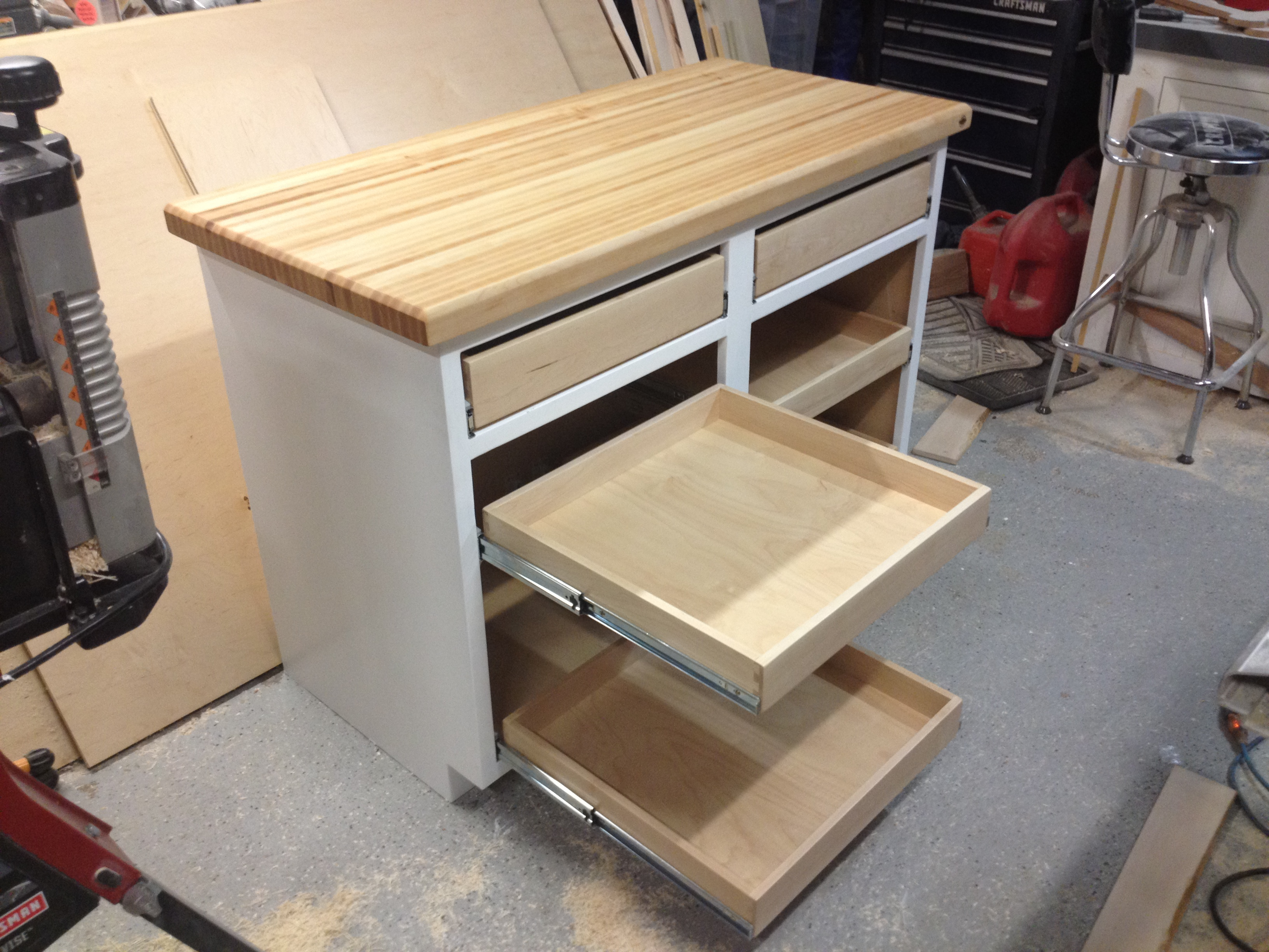 hickory brian drawer dovetail dresser drawers benham build