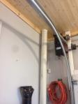 Plumbing goes through attic